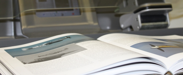 Book being scanned on CopiBook